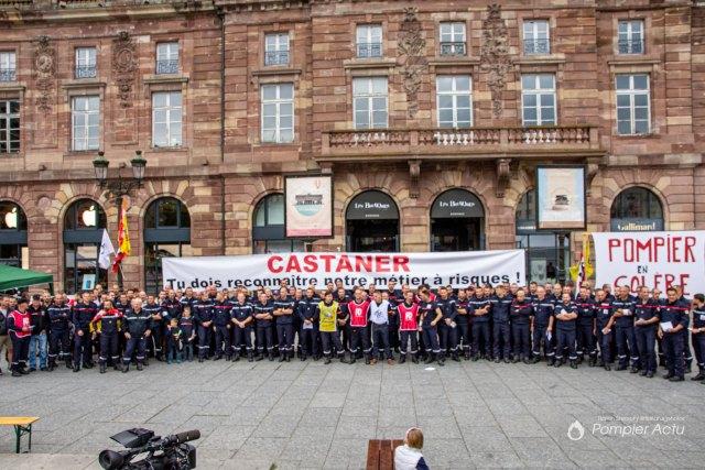 Manifestation des Sapeurs-Pompiers à Strasbourg 07/09/2019