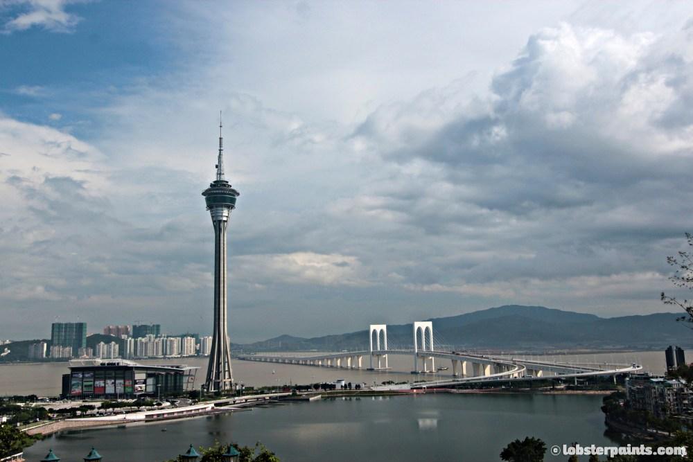View of Macau Tower from Penha Church 主教山小堂   Macau, China