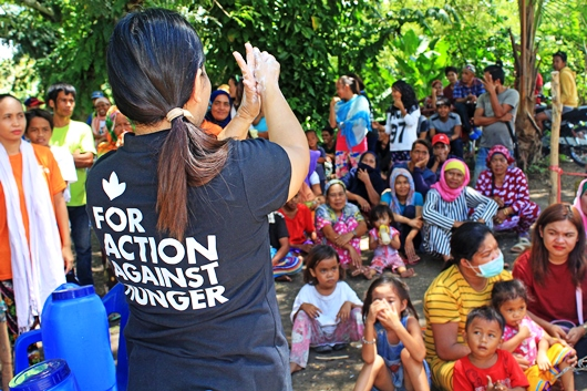 Proper hand washing & other sanitation measures were part of the hygiene promotion in Maguindanao. Photo by Mhodz Suga