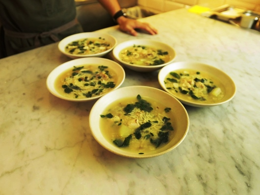 Chef Chele Gonzalez' Chicken Tinola with Fideua Photo by Kief Carrascal