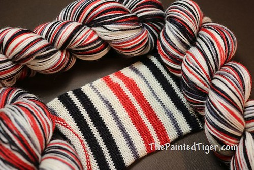 Apple for Teacher Safari Self Striping Sock Yarn August 2019 Subscription Box
