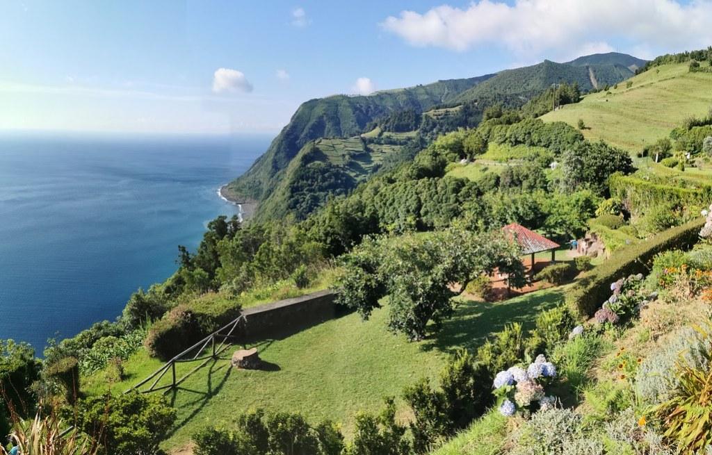 vista desde Mirador Ponta do Sosego Isla de San Miguel Azores Portugal 02