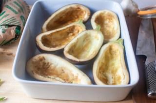 hollowed eggplants