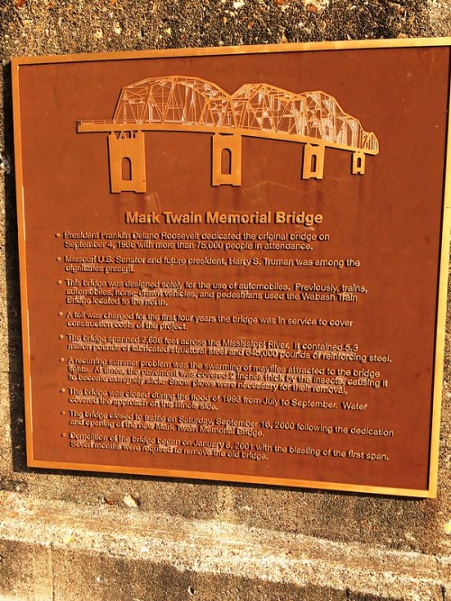 Replacement Mark Twain Bridge Plaque