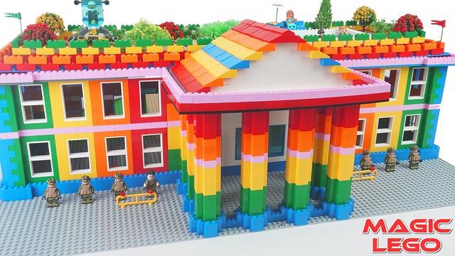 DIY - Rainbow White House with Magic Lego
