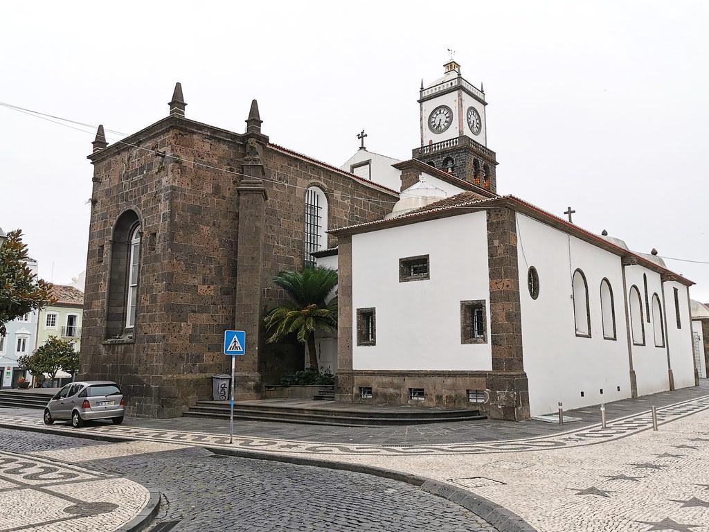 exterior Iglesia matriz de San Sebastian Ponta Delgada Isla San Miguel Azores Portugal 02