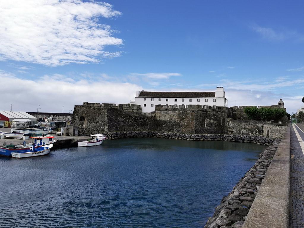 exterior muralla Forte de Sao Bras Ponta Delgada Isla San Miguel Azores Portugal 01