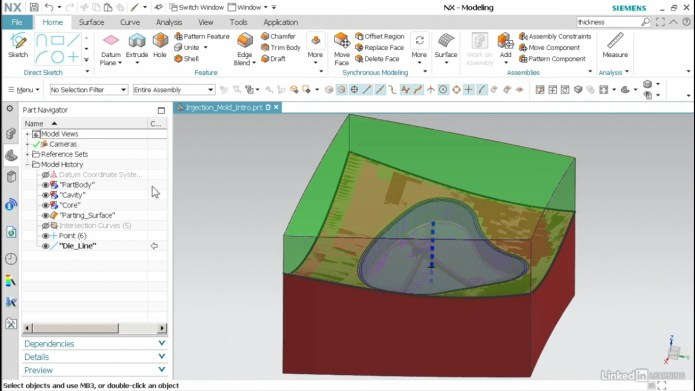 Design for Injection Molding with NX 2019
