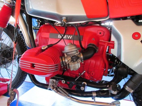 Red Engine Block Stands For the Heart of the R80