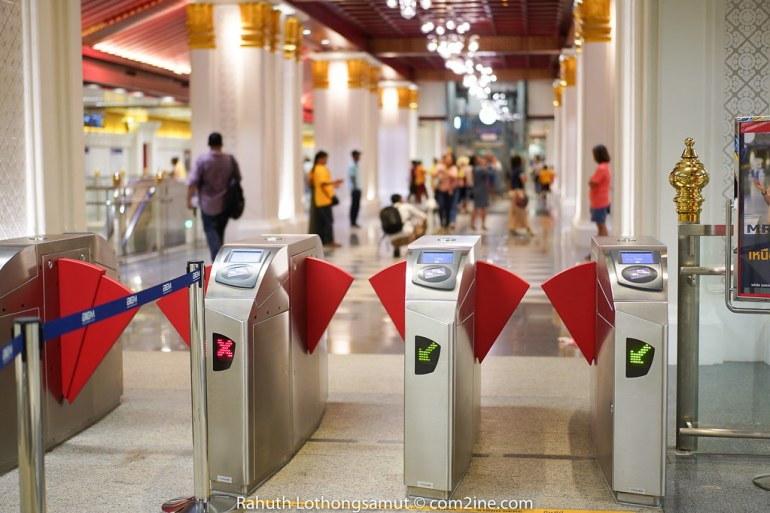 Automatic gate MRT สถานีสนามไชย - Sanam Chai Station