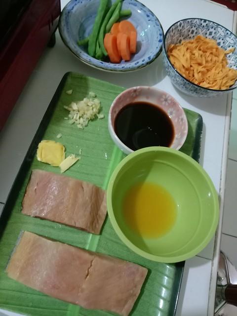 Salmon + ingredients