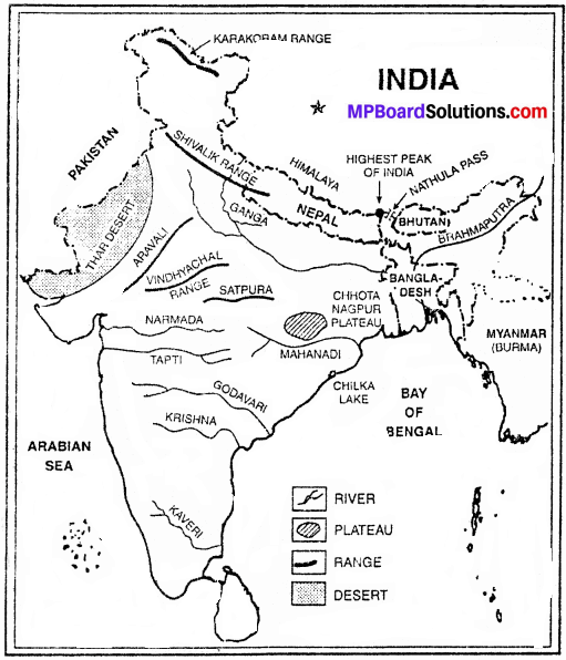MP Board Class 9th Social Science Solutions Chapter 8 Map