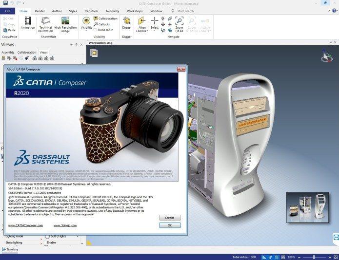 Working with DS CATIA Composer R2020 full license