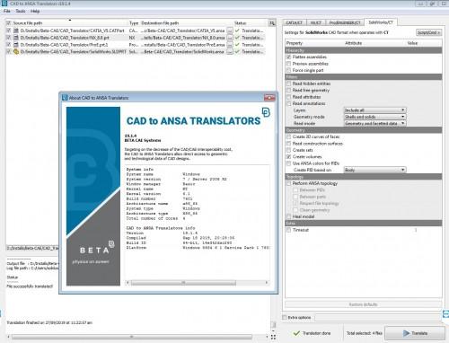 Working with BETA CAE CAD Translator 19.1.4 full license