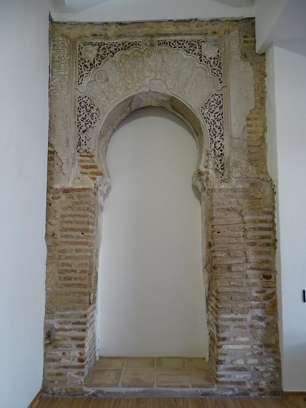 Arco Mihrab Nazari de antigua mezquita Velez Malaga Málaga