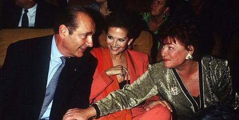 Chirac con CC y Régine Festival film de París 12 junio 1993 Bestimage Uti 485