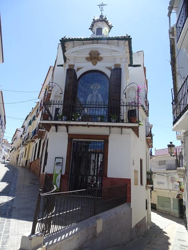 exterior Capilla camerin de la Virgen de la Piedad calle Las Tiendas Velez Malaga Málaga