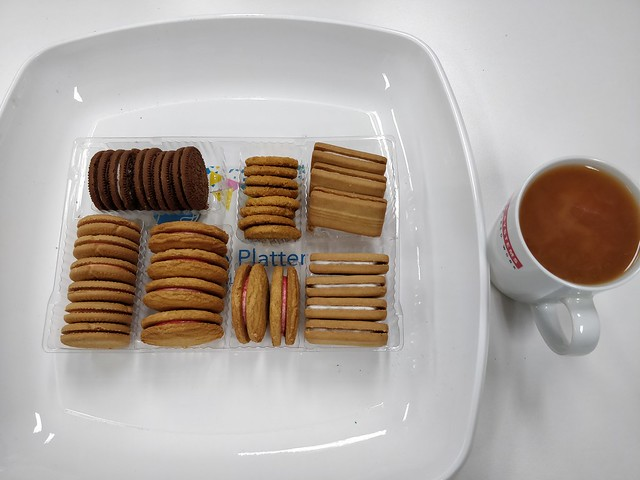 Arnott's Assorted Creams biscuits and tea