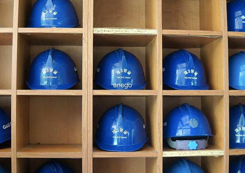第三トンネル ヘルメット