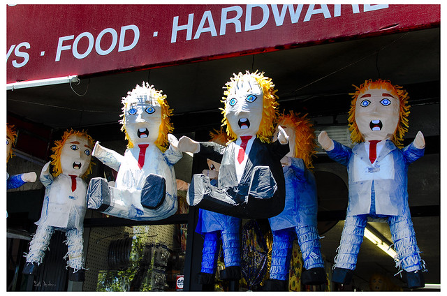 Trump Pinatas in The Mission District