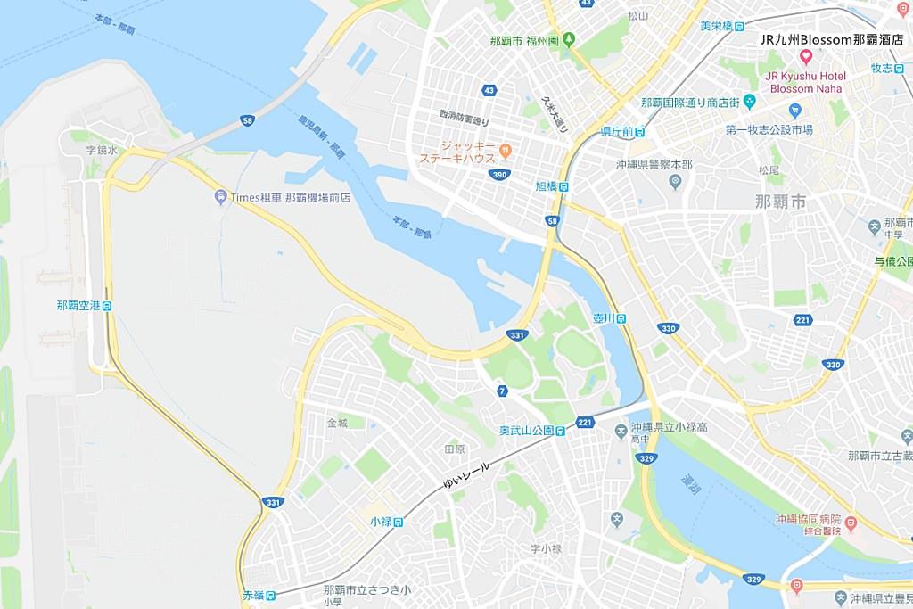 JR Kyushu Hotel Blossom Naha Map