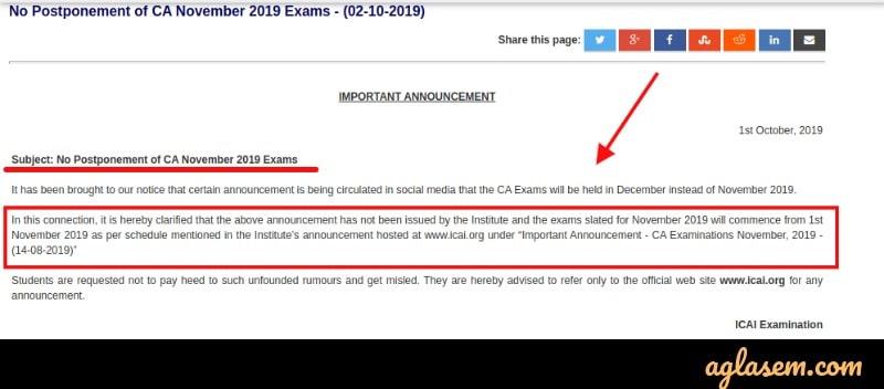 Admit Card of CA Final 2019