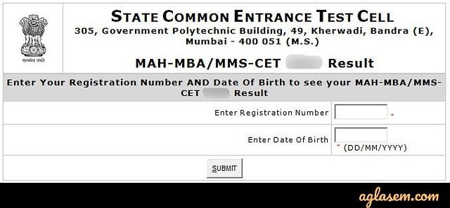 MAH MBA CET 2020 Result