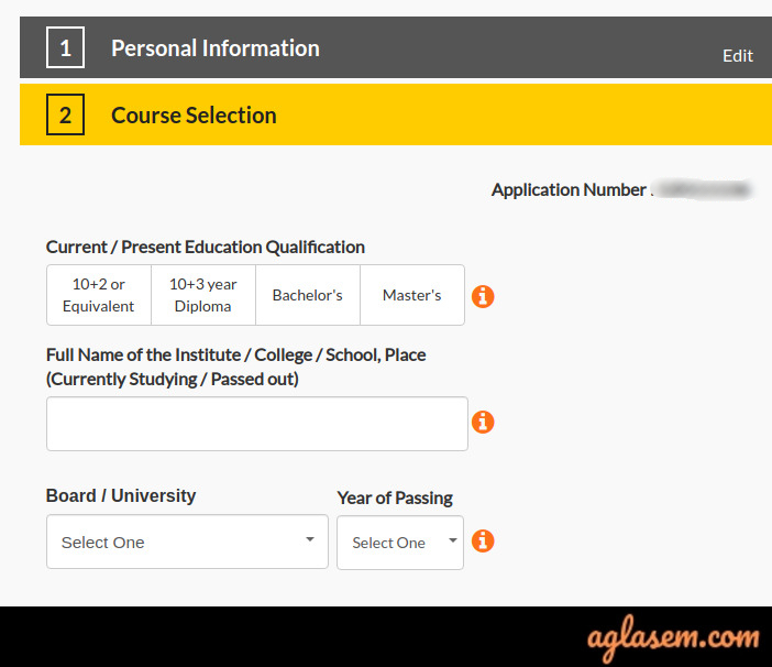MAHE Online Application Form