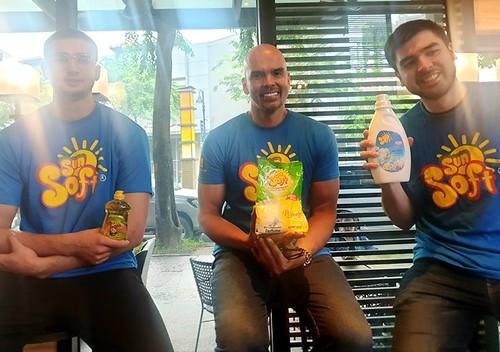 Sun Soft Brand Ambassadors Benjie Andre Kobe Paras