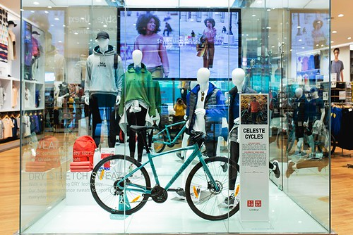 Showcasing the collab of UNIQLO LifeWear and Celeste Cycles