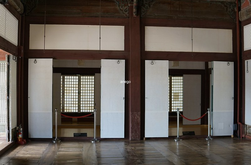 昌慶宮 通明殿 内部