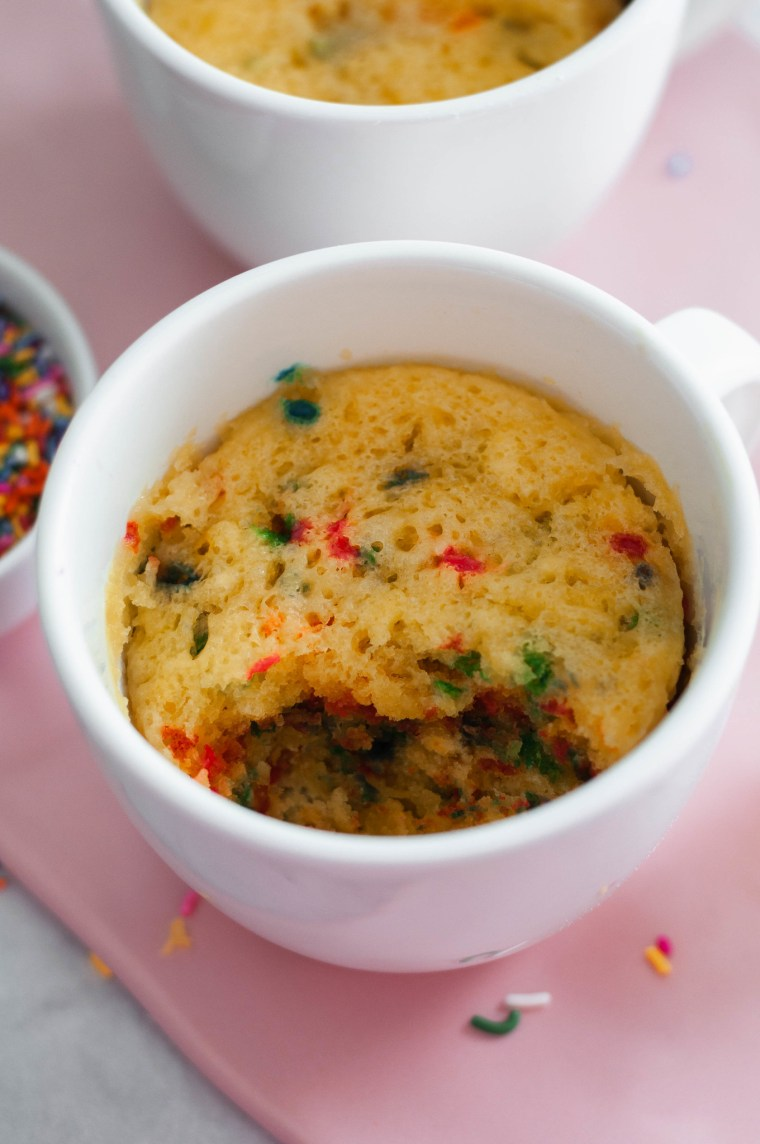 This funfetti Microwave Mug Cake is the perfect solution to your late night sweet tooth craving. Just a handful of ingredients and a few minutes to dessert.
