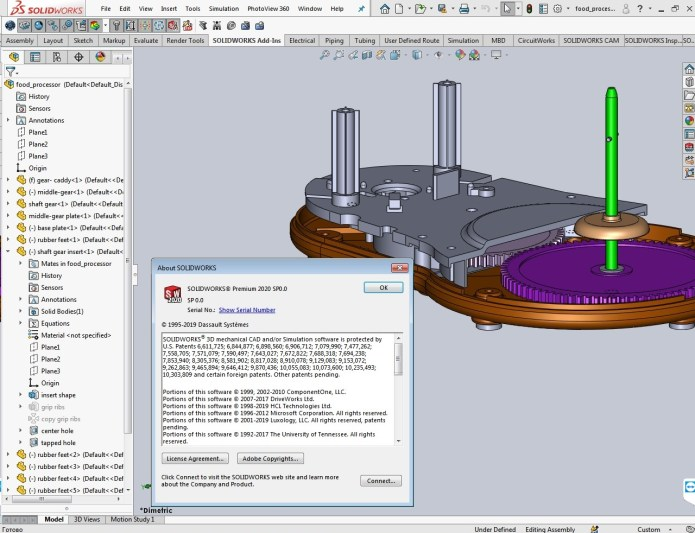 Design with SolidWorks 2020 SP0 full license