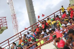 Scenes from SKNP vs TKR match at the Guyana National Stadium, Providence.