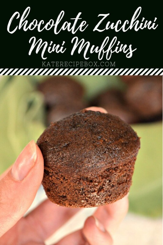Chocolate Zucchini Mini Muffins