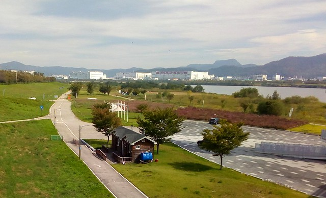 Looking back toward Gumi and the huge LG buildings by bryandkeith on flickr