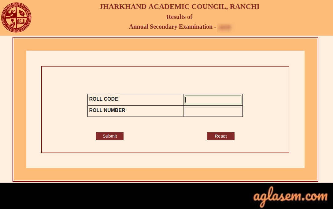 JAC 10th class result login