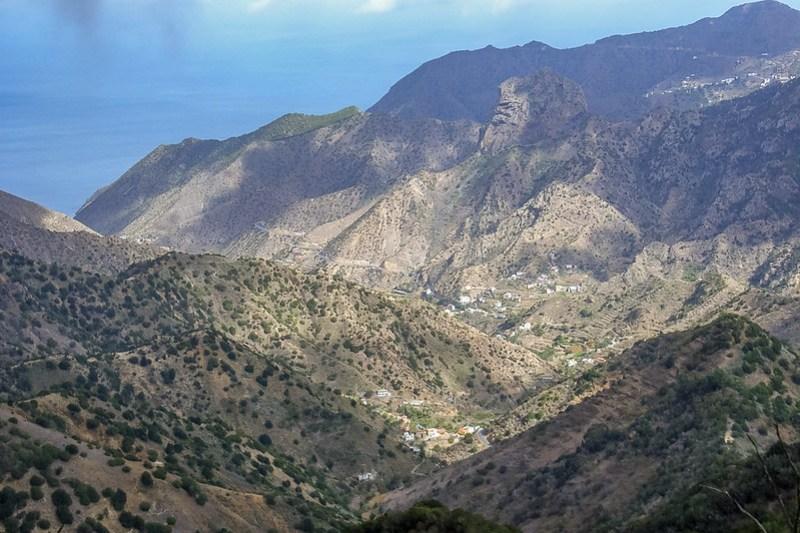 Sonne im Valle Vallehermoso – Aufnahme aus ca 820 Metern Höhe ins Tal_0448