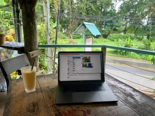 Our digital nomad office on a rainy day