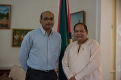 Prime Minister, Hon. Moses Nagamootoo and Justice Rishi Persaud.