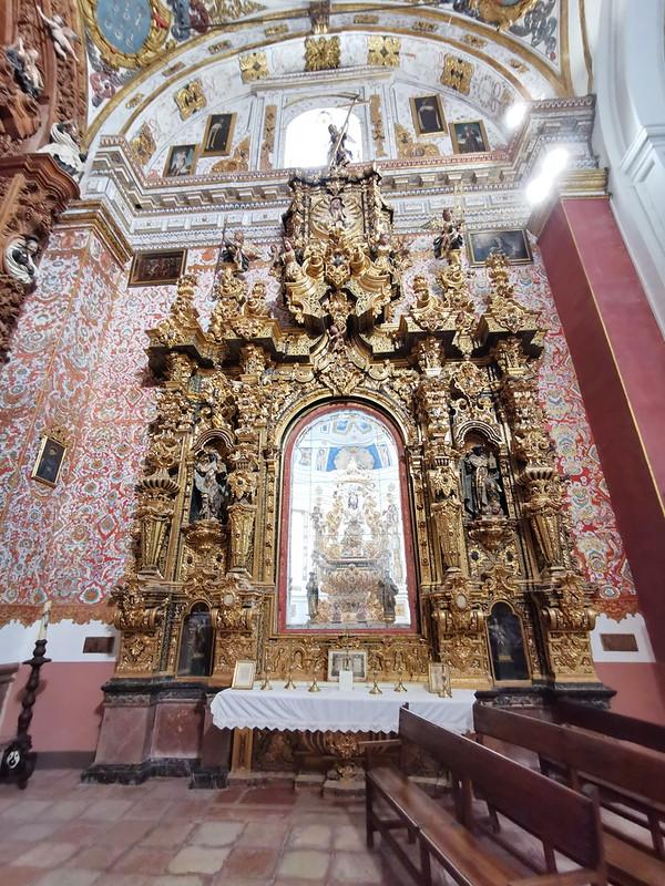 retablo capilla San Jose interior Iglesia del Carmen Antequera Malaga