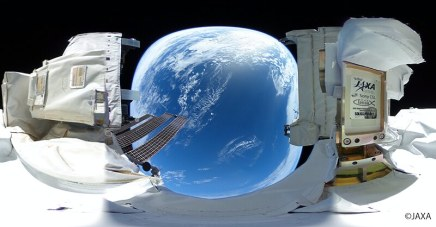 JAXA and RICOH released the 3rd phase of 360-degree spherical still images captured in outer space