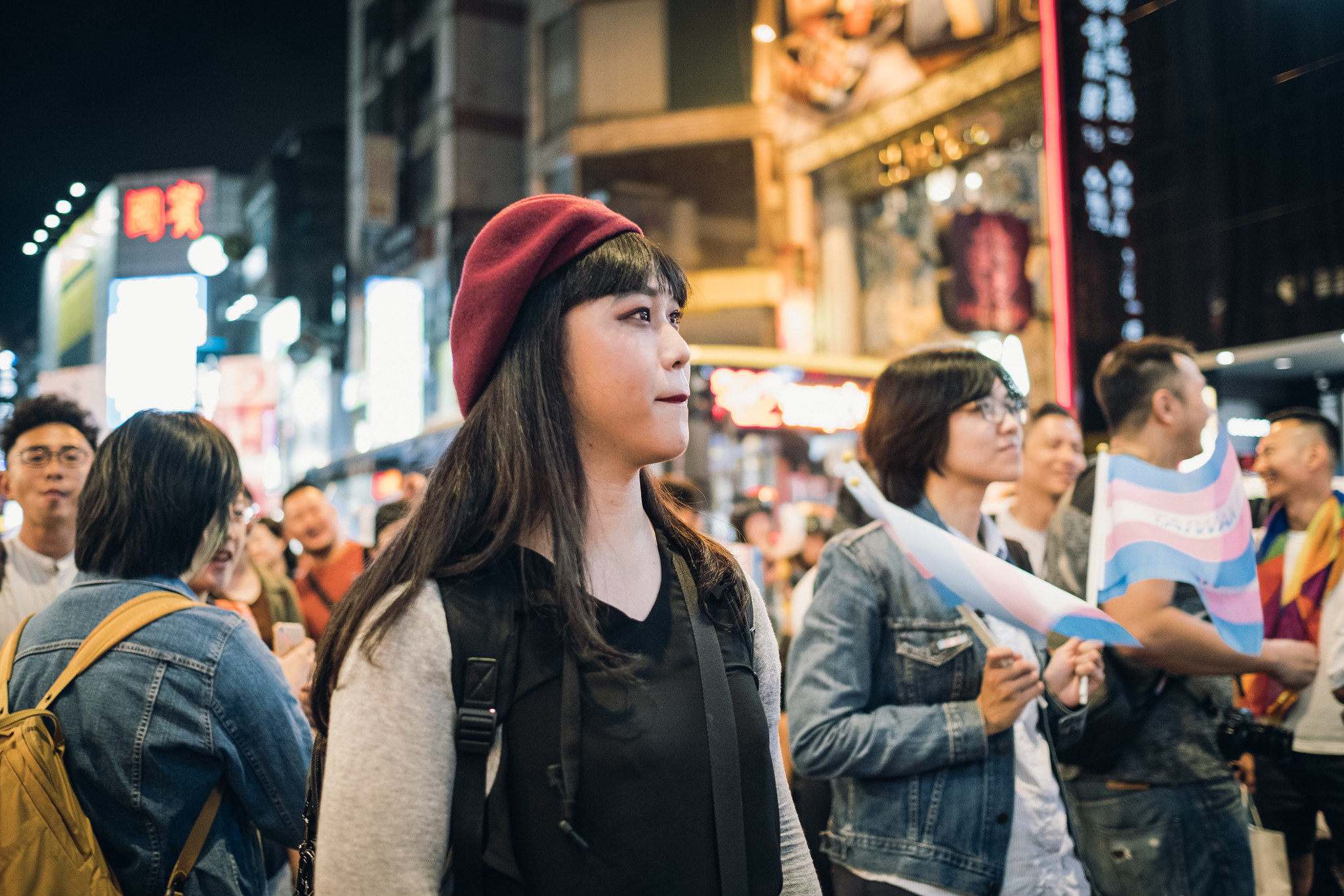 【圖輯】參與首屆跨性別遊行的人們   苦勞網