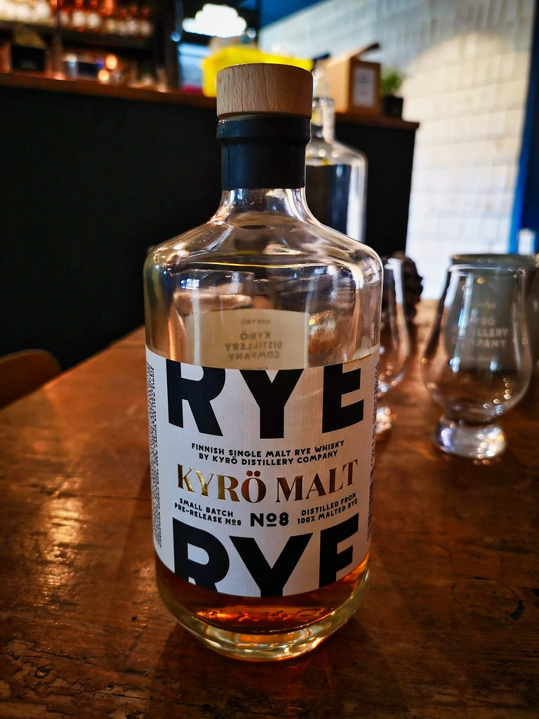 Kyrö Single Malt Rye Whisky batch No 8