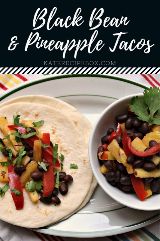 Black Bean and Pineapple Tacos