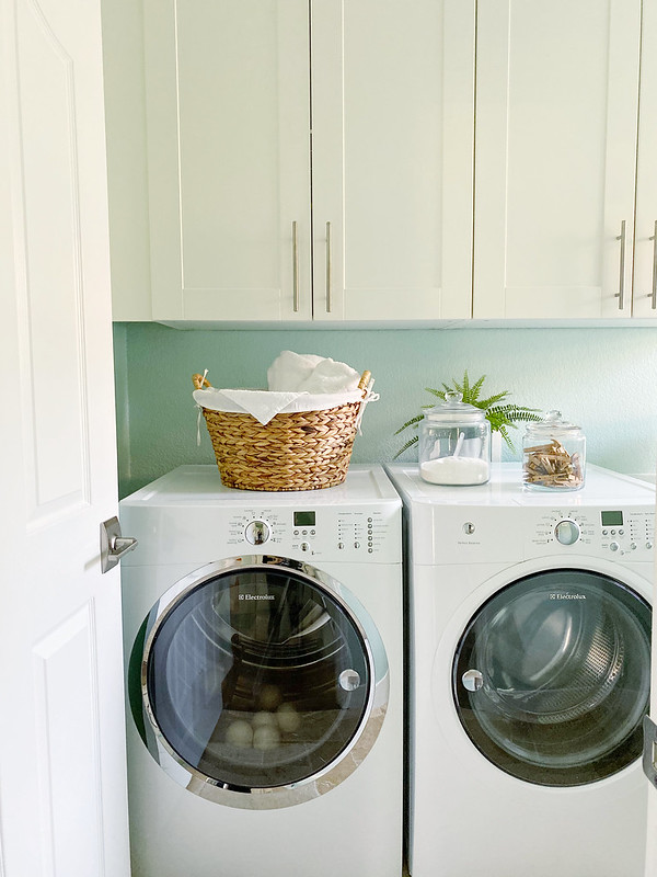 Sneak peek of the laundry room