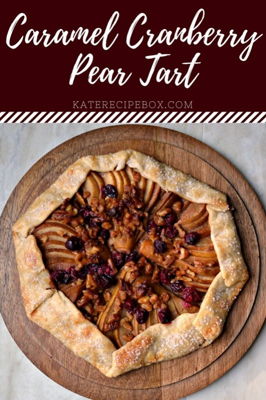 Cranberry Caramel Pear Tart