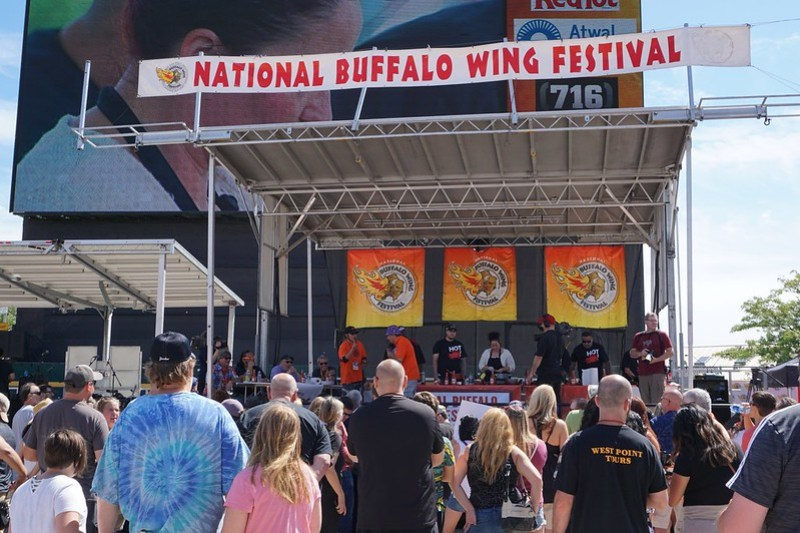 National Buffalo Wing Festival, Buffalo, N.Y., Aug. 31, 2019