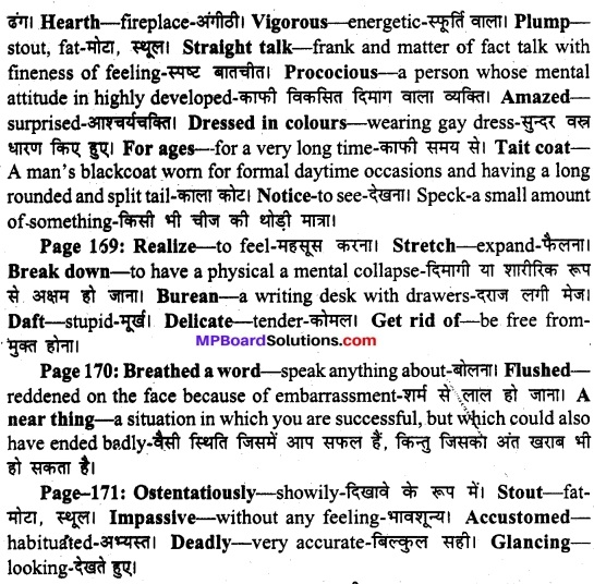 MP Board Class 11th English A Voyage Solutions Chapter 21 The Dear Departed (Stanley Houghton) 2