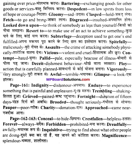 MP Board Class 11th English A Voyage Solutions Chapter 20 Profit and Loss (Rabindranath Tagore) 2
